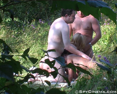 Group outdoor voyeur sex